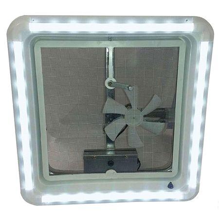 Heng S Hg Lr W Cw Aft Rv Chandelier Led Roof Vent White Trim Light Cool White Bulbs Trim Kit Trim Ring White Lenses