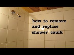 How To Remove Old Shower Silicone Caulk And Apply New And Look Pro Youtube In 2020 Bathroom Caulk Silicone Caulk Mold In Bathroom