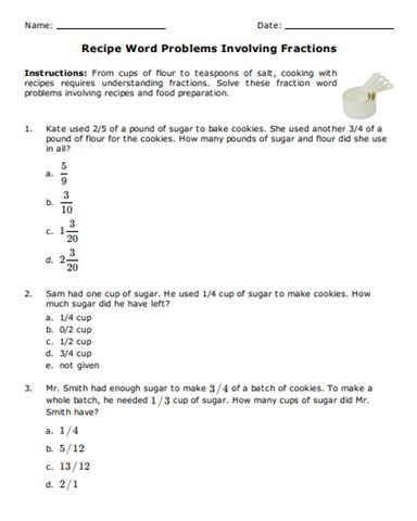 30 Fraction Problems For Class 5 Word Problem Worksheets Word Problems