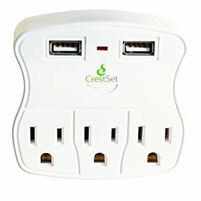 Advertisement Portable Usb Wall Outlet 460 J Surge Protection 2 Usb Ports 3 Ac Ports In 2020 Wall Outlets Power Strip Technology Gadgets