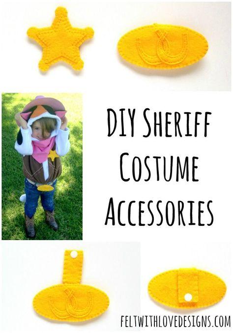 Felt Sheriff Badge and Belt Buckle {Tutorial + Free Pattern} - Felt With Love Designs