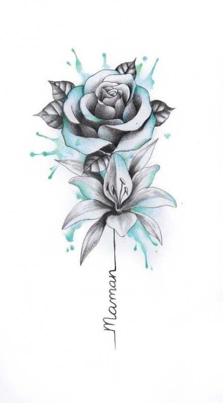 22 Trendy Ideas For Tattoo Designs Flower Drawings Roses Flower Tattoos Tattoos Flower Tattoo Designs