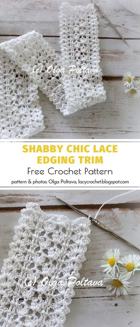 Crochet Edging Patterns, Crochet Lace Edging, Crochet Borders, Thread Crochet, Crochet Trim, Crochet Crafts, Crochet Yarn, Crochet Hooks, Crochet Projects