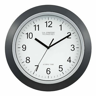 La Crosse Technology Wt 3129b 12 Inch Atomic Analog Wall Clock Black 36 48end Date Aug 08 13 47buy It Now For Black Wall Clock Atomic Wall Clock Wall Clock