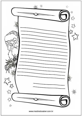 Cartao De Natal Para Colorir Carta Para O Papai Desenho De