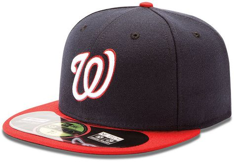 hot sales 54280 86bdb New Era Mlb Hat, Washington Nationals On Field 59FIFTY Fitted Cap