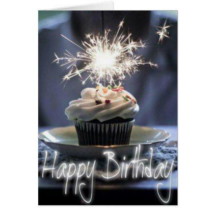 Happy Birthday - Cupcake Card - birthday cards invitations party diy personalize customize celebration