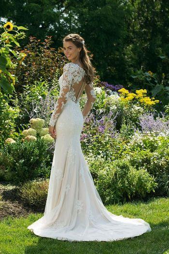 11035 Meerjungfrauen Kleid Hochzeit Brautkleid Langarm Braut