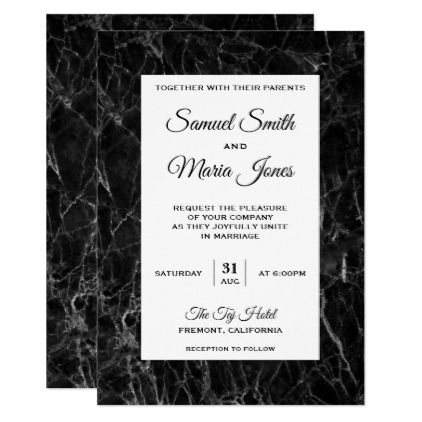 Elegant Chic Black White Marble Wedding