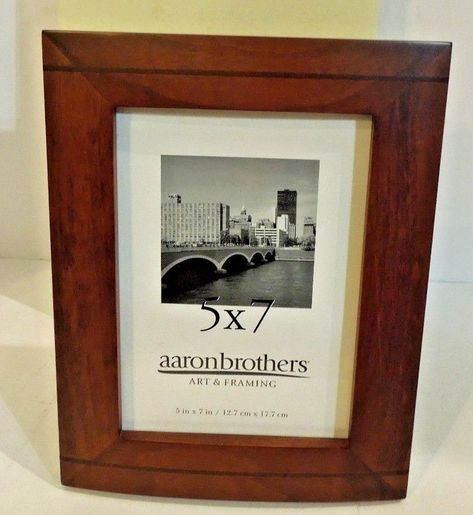 Aaron Brothers Wood Picture Frame 5 X 7 Picture On Wood Frame Wood Picture Frames