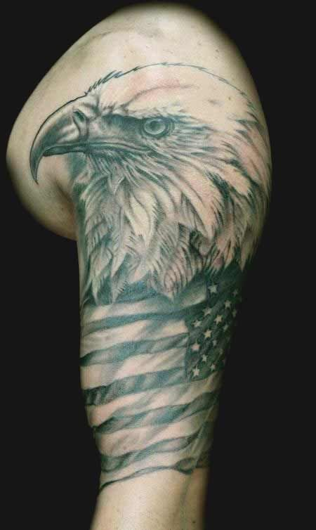 50 Amazing Perfectly Place Eagle Tattoos Designs With Meaning Eagle Shoulder Tattoo Half Sleeve Tattoo Bald Eagle Tattoos