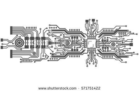 side vector circboard wiring diagram circuit board background texture  vector illustration tatuaje  background texture  vector illustration