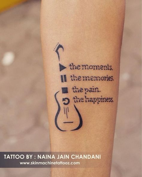 Tattoo for a music lover. Done by : Naina jain chandani  Skin Machine Tattoo Studio Email for appointments: skinmachineteam@gmail.com www.skinmachinetattooz.com  #music #peace #musictattoo #smalltattoo #peace #love #hope #tattoo #bhopalart #followme #musiclover