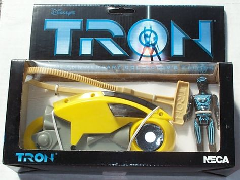 Disney NECA Tron Blue Light Cycle with Flynn Figure 20th Anniversary Collectors Edition Limited to 5000