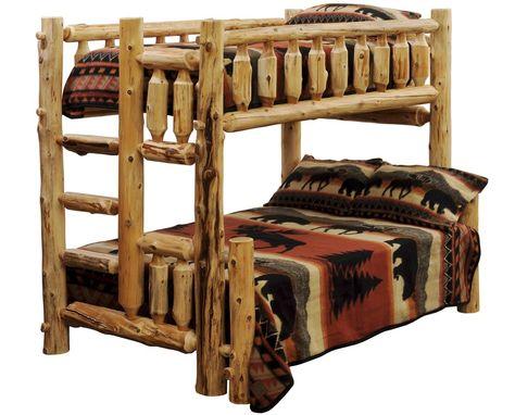 Amazon Com Timberline Twin Queen Cedar Log Bunk Bed Kitchen