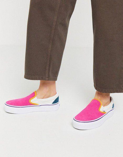 Vans classic slip-on platform color block sneaker in multi. #vans ...