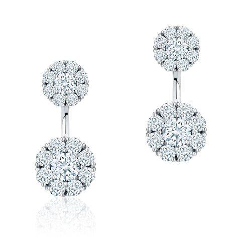 8f63f1c38 Birks Snowflake round diamond jacket earrings as worn by Meghan Markle Price  £5250