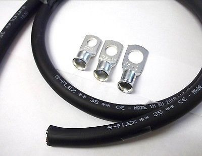 Ad Ebay Black Battery Cable 6 Metre Length 35mm2 Welding Cable Copper 4 Free Eyelets In 2020 Welding Cable Welding Cable