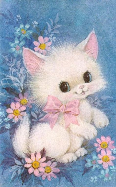 Spring Kitty Cross Stitch Pattern PDF