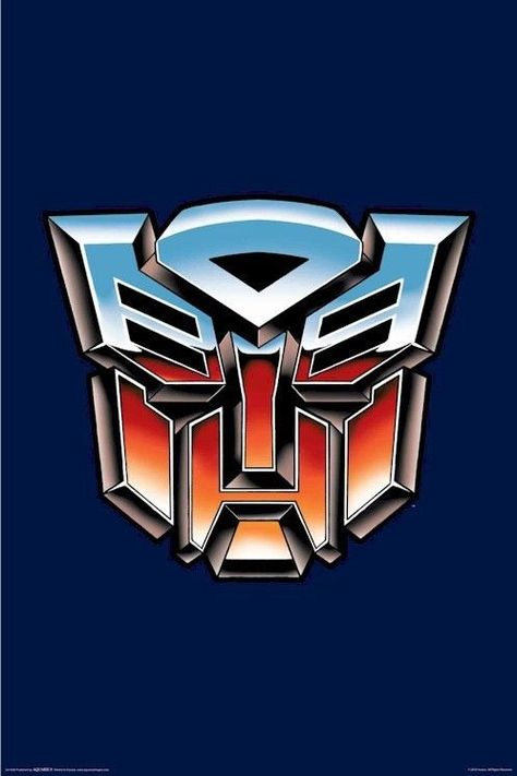 Transform your room with this awesome Transformers Autobots logo poster! Optimus Prime will thank you for it :) Fully licensed. Check out the rest of our great selection of Transformers posters! Need Poster Mounts. Transformers Film, Transformers Masterpiece, Transformers Bumblebee, Transformer Logo, Transformer Birthday, Bumble Bee Transformer, Cartoon Posters, 80s Posters, Cars Cartoon