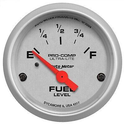 Sponsored Ebay Autometer 4317 Ultra Lite Electric Fuel Level Gauge Gauges Fuel Pressure Gauge Electricity