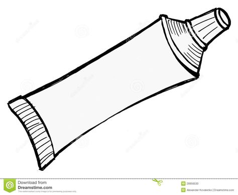 Illustration Of Tube Of Toothpaste And Other Paste New Ideas