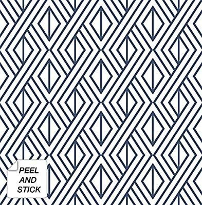 Nextwall Diamond Geometric Peel And Stick Wallpaper Decor Navy Blue Amazon Co Peel And Stick Wallpaper Geometric Wallpaper Peel And Stick Wallpaper Decor