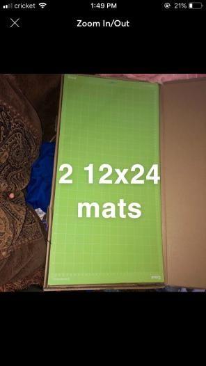 2 Cricut 12x24 Standard Grip Mar Bubbles Cricut Novelty Sign