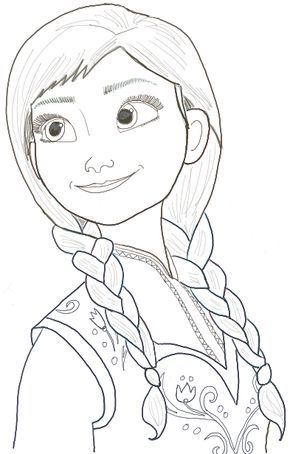 How To Draw Princess Anna From Frozen Step By Step Tutorial How To Draw Step By Step Drawing Tutorials Disney Art Drawings Princess Drawings Disney Princess Drawings