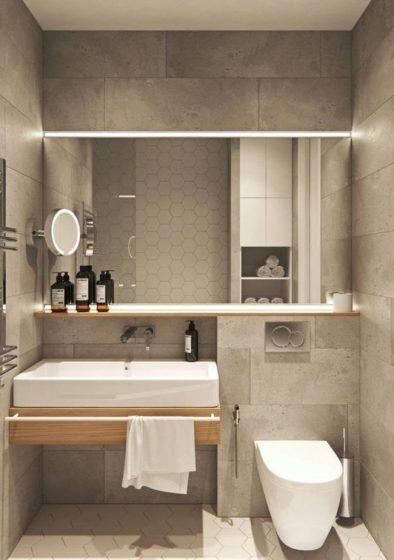 Paredes Bloques Concreto Cuarto De Bano Bathroomlighting