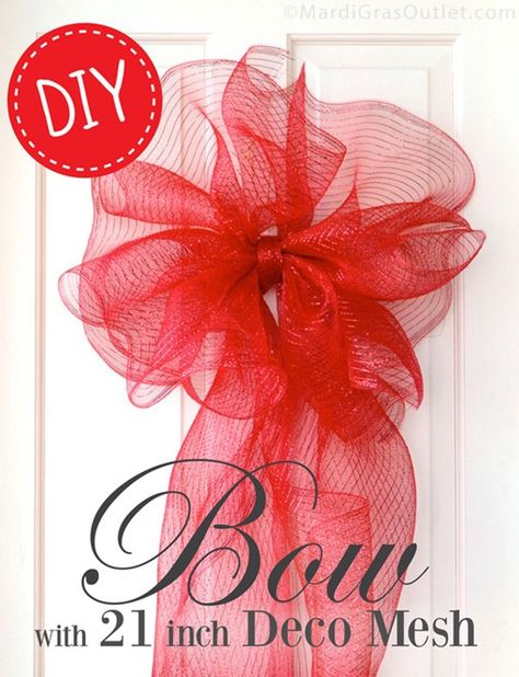 DIY- large bows for the holidays