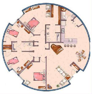 Dome home floor plans gurus floor for Round house plans free