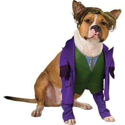 The Joker Dog Costume Batman Size Xl Halloween Multi Colored In