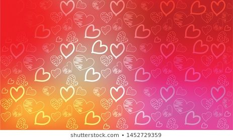 Love Card Vector Illustration Graphic Hearts Background Romantic