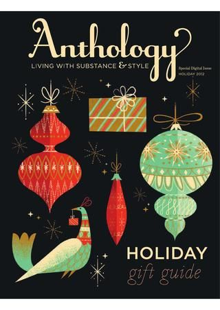 Holiday cover for Anthology magazine. Love this style of illustration