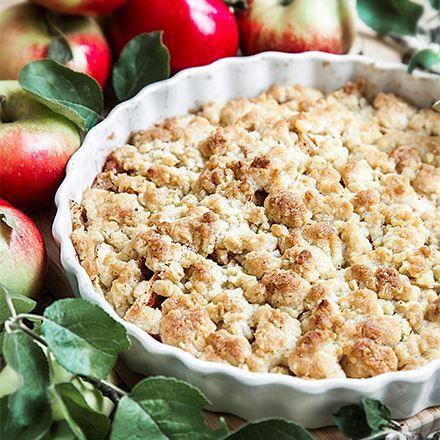 äppelkaka recept havregryn