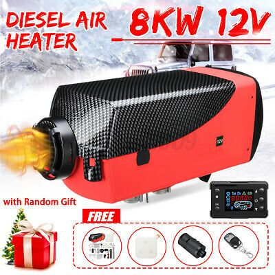 8KW 12V Diesel Air Heater LCD Thermostat Remote 8000W For Trucks Boat Trailer US