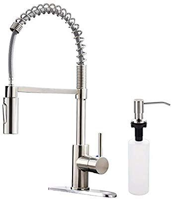 Appaso Commercial Kitchen Faucet Pull Down Sprayer With Soap Dispenser Stainless Ste Kitchen Faucets Pull Down Commercial Kitchen Faucet Kitchen Sink Faucets Cheap kitchen faucets with sprayer