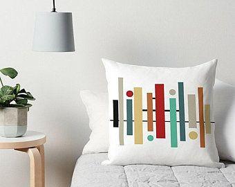 Geometric Pillow Couch Pillow Accent Pillow Mid Century Modern 16x16 18x18 20x20 24x24 26x26 Modern Throw Pillo Modern Throw Pillows Throw Pillows Pillows