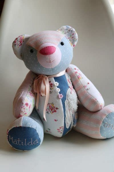 Patchwork TEDDY BEAR Sewing Pattern PHOTOCOPY Keepsake Memory TOY Easy to Make