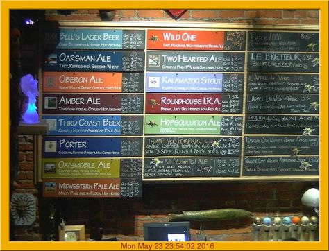 Chalkboard Beer Menu  Google Zoeken  Beer Inspiration
