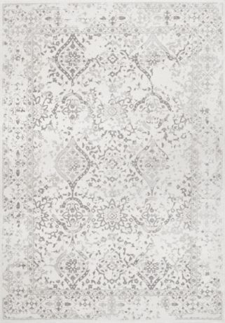 Product Details Ivory Vintage Odell Square Area Rug 8x8 In