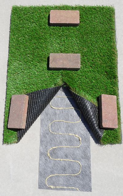 Learn how to use seam tape to join rolls of artificial grass (synthetic turf or fake grass) from StarPro Greens.