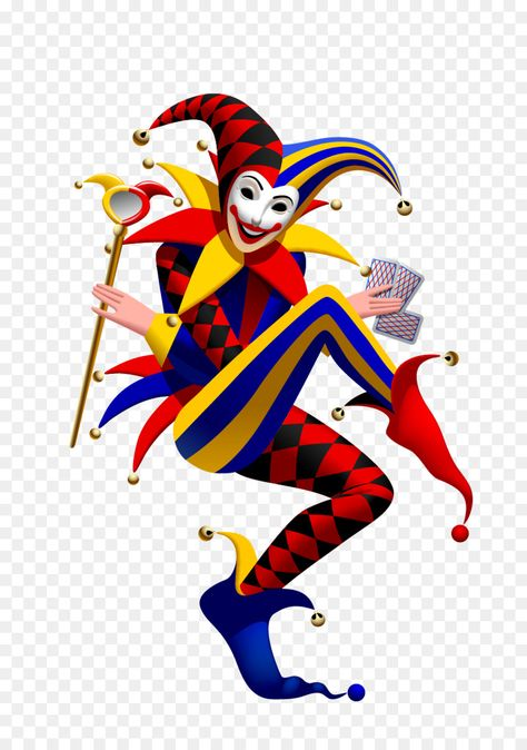 Joker Playing Card Suit Spades Vector Funny Clown