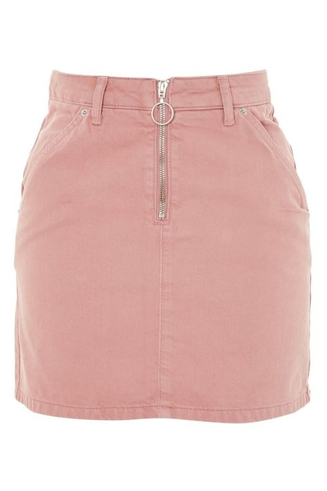 PETITE Half Zip Denim Skirt - Skirts - Clothing - Topshop