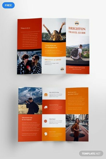 Free Travel Brochure Template For Students Travel Brochure