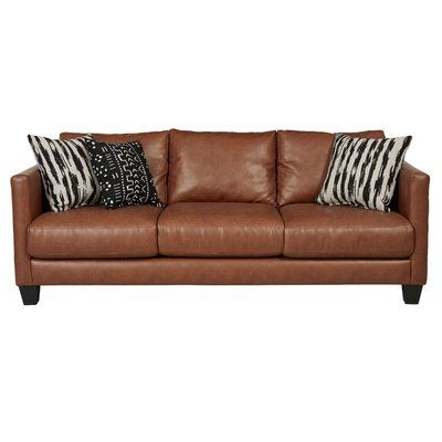 Three Posts Hubbardston 84 Square Arm Sofa In 2021 Leather Couches Living Room Faux Leather Sofa Hubbardston
