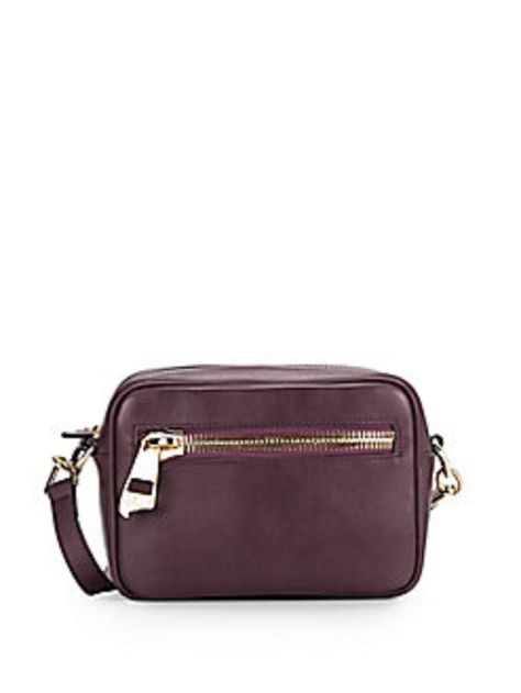 89d72c5eb2 Get the trendiest Cross Body Bag of the season! The Versace Collection  Leather Mini Dark Purple Cross Body Bag is a top 10 ...