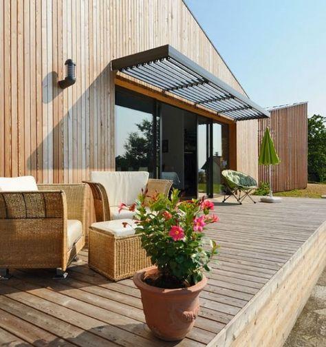 Brise soleil sur la terrasse bois - côté Sud