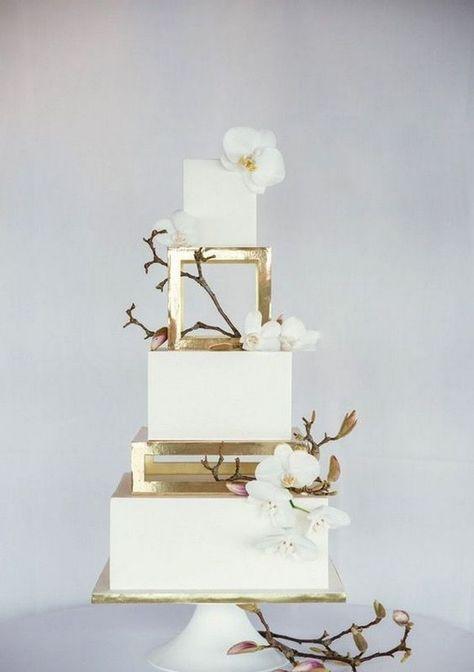 100+ Elegant Gold Wedding Cake You Need to See